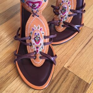 CARLOS SANTANA BoHo Slingback Open Toe Heel NEW
